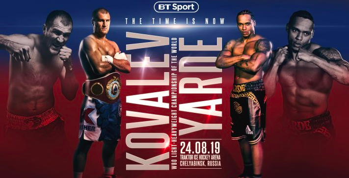 Kovalev Yarde Betting Odds