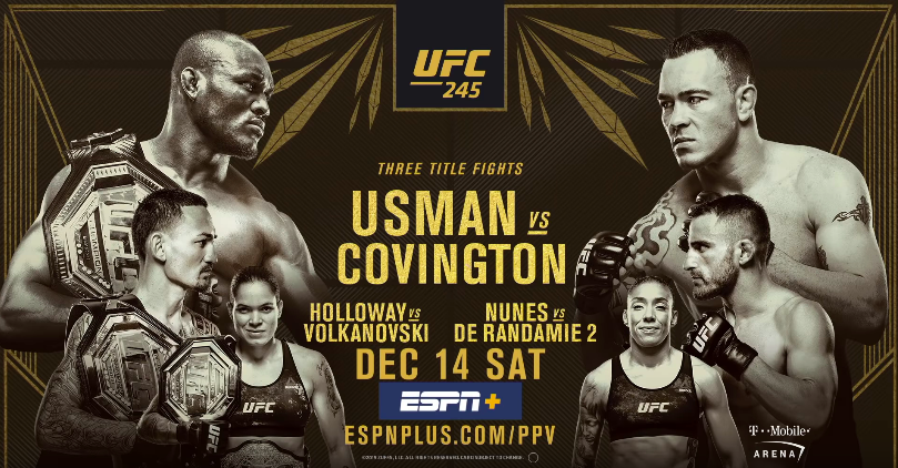 UFC 245 Betting Props